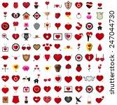 the love vector 100 concept...   Shutterstock .eps vector #247044730