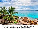 tropical beach. the seychelles | Shutterstock . vector #247044820