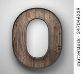 Vintage Wooden Letter O With...