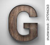 Vintage Wooden Letter G With...