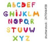funny kids colorful alphabet ... | Shutterstock .eps vector #247046458