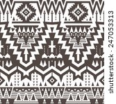 vector seamless tribal pattern. ... | Shutterstock .eps vector #247053313