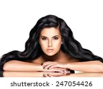 portrait of the beautiful ... | Shutterstock . vector #247054426