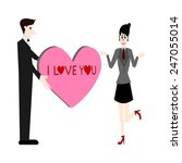 i love you vector | Shutterstock .eps vector #247055014