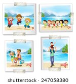 four different pictures at the... | Shutterstock .eps vector #247058380