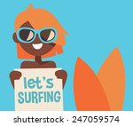 let's surfing  smiling young... | Shutterstock .eps vector #247059574