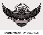 illustration of emblem with...