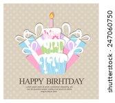 birthday invitation. vector | Shutterstock .eps vector #247060750