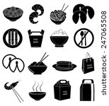 chinese foods icons set | Shutterstock .eps vector #247065508