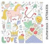 set of romantic vector elements.... | Shutterstock .eps vector #247066306