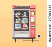 vending machine with gadgets.... | Shutterstock .eps vector #247068166