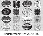 vintage labels. vector set  of... | Shutterstock .eps vector #247070248
