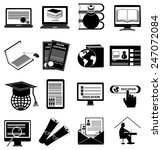 online education icons set | Shutterstock .eps vector #247072084