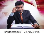 business man with book | Shutterstock . vector #247073446