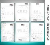 three dimensional mesh stylish... | Shutterstock .eps vector #247074889