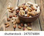 Mixed Nuts In A Bowl On A...