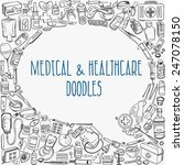 health care and medicine doodle ... | Shutterstock .eps vector #247078150