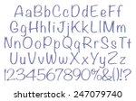 3d  violet metal full english... | Shutterstock . vector #247079740