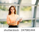 young smiling business woman... | Shutterstock . vector #247081444