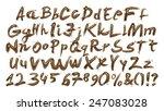 3d gold font  full alphabet... | Shutterstock . vector #247083028