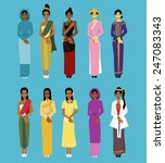 tradition cloth asia. | Shutterstock .eps vector #247083343