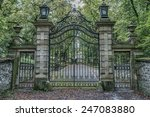 vintage iron gates at castle... | Shutterstock . vector #247083880