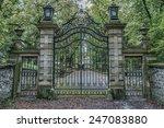 Vintage Iron Gates At Castle...