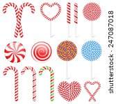 set of different candies and... | Shutterstock .eps vector #247087018