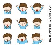 set of boy in various poses | Shutterstock .eps vector #247088629
