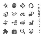 business strategy icon set ...   Shutterstock .eps vector #247089118