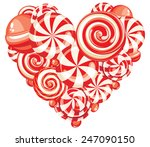 valentine's heart shaped sweet... | Shutterstock .eps vector #247090150