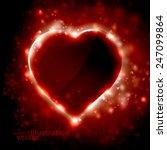 futuristic heart  abstract... | Shutterstock .eps vector #247099864