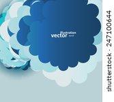 blue sky clouds illustration ... | Shutterstock .eps vector #247100644