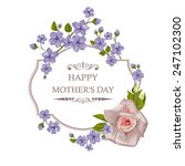 happy mother's day floral... | Shutterstock .eps vector #247102300