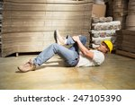 side view of male worker lying... | Shutterstock . vector #247105390