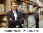 female manager with arms... | Shutterstock . vector #247109578
