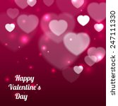 happy valentines day background ... | Shutterstock .eps vector #247111330