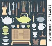 vector solid colors tea... | Shutterstock .eps vector #247112518