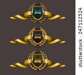 set of luxury golden vector... | Shutterstock .eps vector #247112524