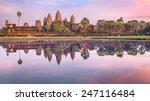 Angkor Wat Temple At Dramatic...