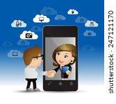 people set   cloud computing  ... | Shutterstock .eps vector #247121170