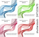 set of abstract color wavy... | Shutterstock .eps vector #247122670