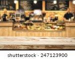 wooden top and bar  | Shutterstock . vector #247123900