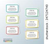 six steps modern design...   Shutterstock .eps vector #247124740
