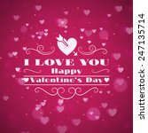 st. valentine's day abstract... | Shutterstock .eps vector #247135714