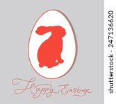 easter bunny in an egg card...   Shutterstock .eps vector #247136620