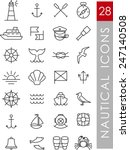 set of nautical icons and...