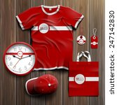 Постер, плакат: Red classic promotional souvenirs