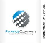 accounting vector logo symbol | Shutterstock .eps vector #247144906