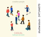 Casual People Flat 3d Web...